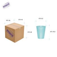 """כוס פלסטיק איכותית לשתייה  100יח' בשרוול(200 סמ""""ק)"""
