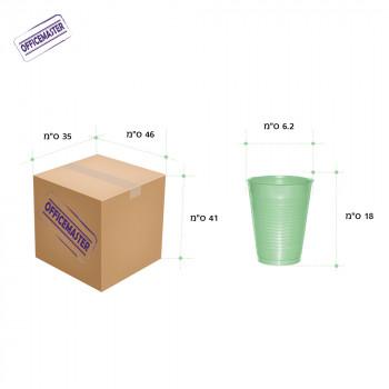 כוס פלסטיק רגילה לשתייה  קרה 100יח' בשרוול