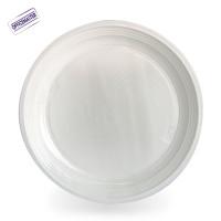 """חבילת צלחות חד פעמיות  1ק""""ג כ-66 יחידות בצבע לבן"""