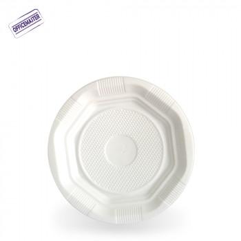 צלחת חד פעמית רגילה בצבע לבן מידה S ארוז 50יח'